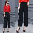 Plain Wide-leg Pants 1596