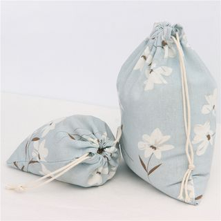 Floral Canvas Drawstring Sack 1053865510