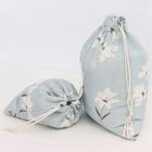 Floral Canvas Drawstring Sack 1596