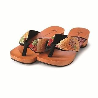 Picture of Mizutori Geta-monogatari Flower sandals 1004605980 (Sandals, Mizutori Shoes, Japan Shoes, Womens Shoes, Womens Sandals)