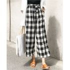 Plaid Wide-Leg Pants 1596