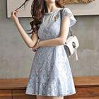 Cap-Sleeve Lace A-line Dress 1596