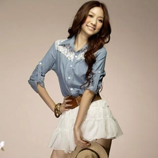 Buy Tokyo Fashion Denim Mock Two-Piece Dress 1022508578