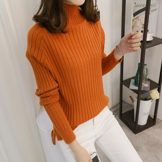 Turtleneck Ribbed Sweater 1061965394