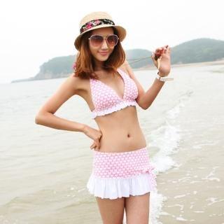 Buy Jean Stone Set: Bikini + Cover-Up Skirt 1022901495