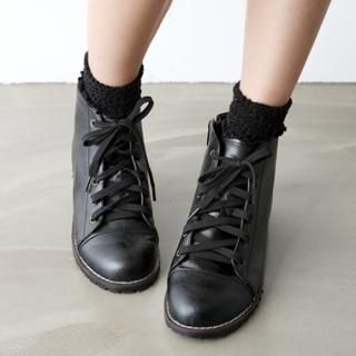 Picture of HARU Lace-Up Boots 1023052338 (Boots, HARU Shoes, Korea Shoes, Womens Shoes, Womens Boots)