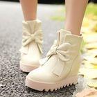 Hidden Wedge Bow Short Boots от YesStyle.com INT