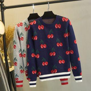 Image of Cherry Jacquard Sweater
