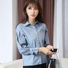 Plain Bell-Sleeve Shirt 1596