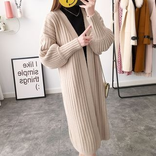 Ribbed Long Cardigan 1064799004