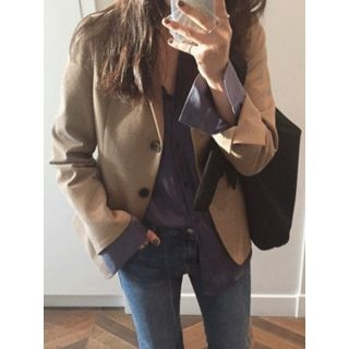 Single-Breasted Cotton Jacket 1053726609