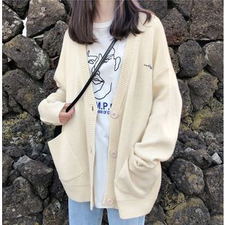 Image of Embroidered Letter Cardigan