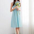 Sleeveless Spaghetti-Strap A-Line Dress 1596