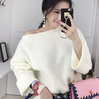 Boat-Neck Ribbed Sweater 1057378988