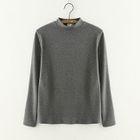 Mock-Neck Long-Sleeve T-Shirt 1596