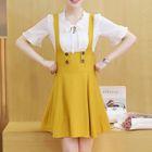 Set: Short-Sleeve Blouse + Jumper Dress 1596