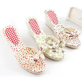 Picture of KAWO Bow Floral Wedges 1022892998 (Other Shoes, KAWO Shoes, China Shoes, Womens Shoes, Other Womens Shoes)