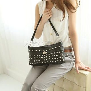 Buy SkyBlue Twist Lock Studded Handbag 1022986487