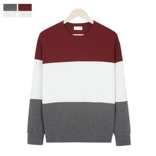 Color-Block Textured Sweatshirt 1057618479