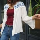 Embroidered Yoke Textured Blouse от YesStyle.com INT