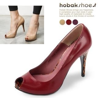 Buy HOBAK girls Genuine Leather Open-Toe Pumps 1023059671