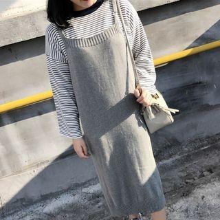 Knit Midi Pinafore Dress 1057326922
