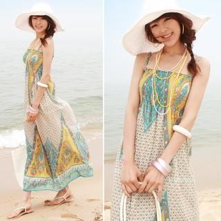 Buy EL Style Smocked Maxi Sundress 1022868118
