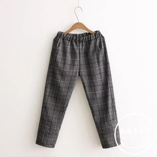 Plaid Harem Pants 1053851390
