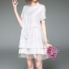 Sequined Short-Sleeve Dress 1596
