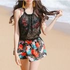 Floral Bikini Set / Beach Shorts 1596