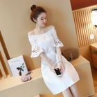 Short-Sleeve Off-Shoulder Dress 1596