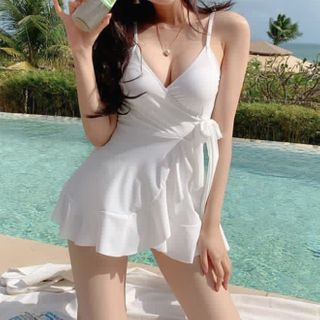 Image of Bow Accent Swimdress
