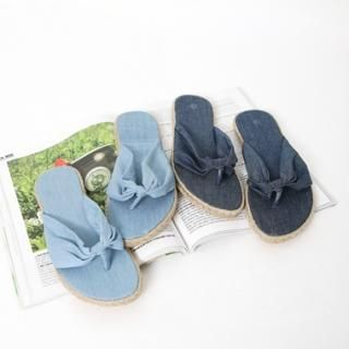 Picture of Drama Denim Flip-flops 1022841124 (Other Shoes, Drama Shoes, Korea Shoes, Womens Shoes, Other Womens Shoes)