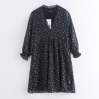 Chiffon   Floral   Dress   Mini