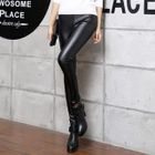 Faux-Leather Fleece-Lined Leggings 1596