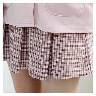 Plaid Mini Pleated Skirt 1057567542
