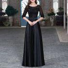 Elbow-Sleeve Rhinestone Evening Gown 1596