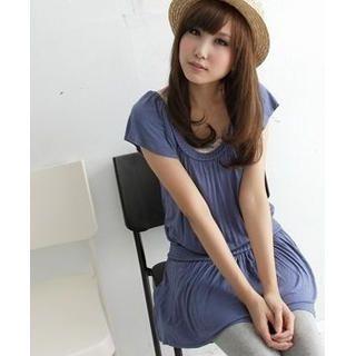 Buy BAIMM Short-Sleeve Shirred Dress 1023029837