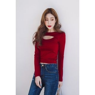 Boat-Neck Cutout-Front Top 1057540011