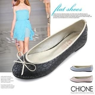 Picture of Chione Animal Print Beribboned Flats 1022189856 (Flat Shoes, Chione Shoes, Korea Shoes, Womens Shoes, Womens Flat Shoes)
