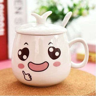 Cartoon Print Cup With Lid 1051035078