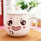 Cartoon Print Cup With Lid 1596