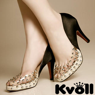 Buy Kvoll Studded Clear Platform Pumps 1022532791