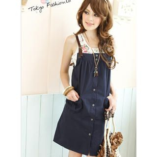 Buy Tokyo Fashion Buckled-Strap Jumper Dress 1022882860