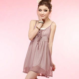 Buy Tokyo Fashion Lace-Up Sleeveless Babydoll Dress 1022963761