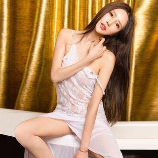 Set: Lace Nightdress + Thongs 1064756410