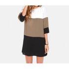 Elbow-Sleeve Striped T-Shirt Dress 1596