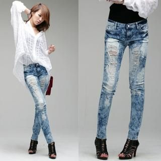 Buy LCLOTHES Distressed Skinny Jeans 1022973711