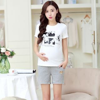 embroidery-maternity-shorts