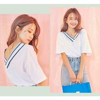 Short-Sleeve V-Neck T-Shirt 1061004977